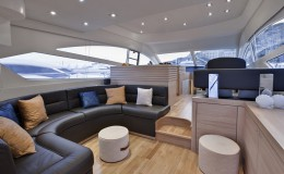 Italy, sicily, Naples, luxury yacht, dinette, Abacus 52′, Abacus boatyard